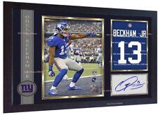 Odell Beckham Jr New York Giants NFL photo print signed autograph Framed
