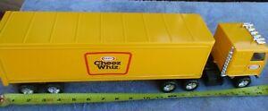 "Kraft Foods Cheez Whiz Semi-Truck ERTL  YELLOW 20"" METAL  TRAILER"