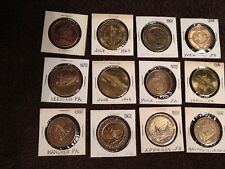 Vintage Brass Travel Coins / Souvenirs / Tokens - Pennsylvania