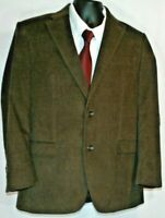 Chaps Ralph Lauren 38R Brown Corduroy Blazer Sports Coat Jacket, 2 Button
