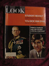 LOOK April 18 1967 Prince Charles Margaret Truman Dick Van Dyke Yaacov Agam
