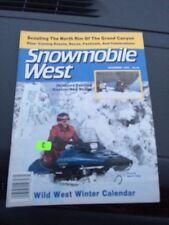 Dec t1986 snowmobile West Magazine  Ski Doo Arctic Cat Polaris Indy Sport