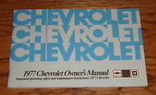 1977 Chevrolet Full Size Car Owners Operators Manual 77 Chevy Impala Caprice