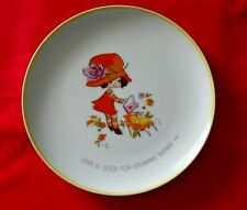 Mopsie 1973 WWA Inc Collectors Porcelain Plate Love is Good For Growing Things