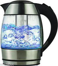 Brentwood KT-1960BK Borosilicate Glass Electric Cordless Kettle Tea Infuser