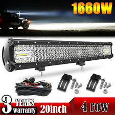 For Ford F150 1660W 20'' LED Lower Bumper Straight Work Light Bar + Wiring Kit