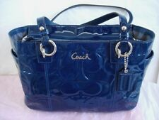Coach Embossed Patent East West Gallery Tote Purse #17728