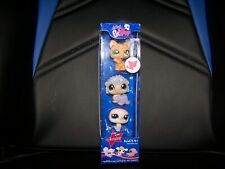 Littlest Pet Shop 3 tube Pack  #1186 1187 1188 Cat Porcupine Dove NIB Rare