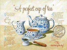 Tee, Vintage Küche, Café Alte Laden, Essen Rezept, Großes Metall/Zinn-zeichen