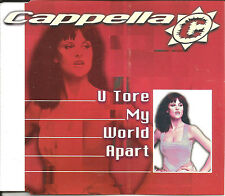 CAPPELLA U tore My World Apart 6 TRX MIXES & EDIT CD Single USA seller SEALED