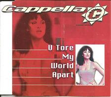 CAPPELLA U tore My World Apart 6 TRX MIXES & EDIT CD Single USA seller SEALED