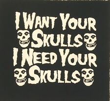 MISFITS Want Your Skull big back patch punk psycho horror