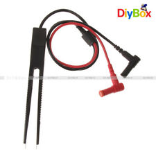 SMD Chip Test Clip Meter Lead Probe Multimeter Tweezer Capacitor Resistance