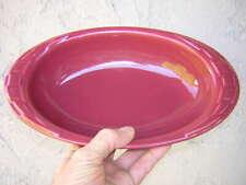 "11 1/8"" Longaberger Pottery woven traditions Paprika Oval-Shaped Baking Dish"