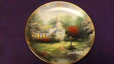 "Thomas Kinkade Simpler Times Calendar Plate June ""Hometown Chapel"" 5 3/4"""