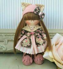 Bambola Di Pezza Fatto a mano nel Regno Unito Mini Pocket doll Tilda Bambola ooak doll Tilly 5 Pollici DI ALTEZZA