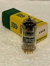 Amperex 6922 pinched waist, gold pins NOS NIB. Made in USA.  NEW LOWER PRICE!!