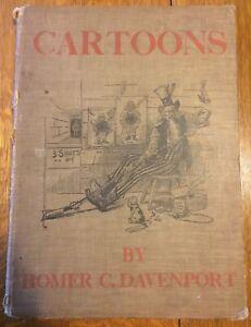 CARTOONS Homer C. DAVENPORT Inscribed 1898 Boss Tweed De Witt Publishing House
