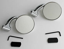 "CONVEX 3"" Short Arm Peep Mirrors - PAIR Stainless Hot Rod NEW C5001-1CVX"