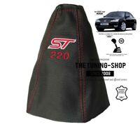 """Schaltmanschette Schaltsack Fur Ford Mondeo MK3 2003-2006 Leder """"ST 220"""" Rot"""