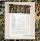 "Mossy Oak Break-Up Infinity Curtain Window Valance, Dimensions: 60"" x 14"" - NEW"