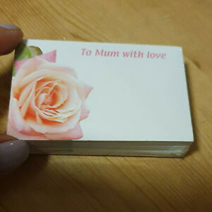 Funeral FLORISTRY MESSAGE CARDS 50 5 female relative Sympathy Memorial message