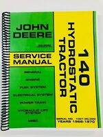 SERVICE MANUAL FOR JOHN DEERE 140 HYDROSTATIC TRACTOR SM2086 REPAIR MANUAL