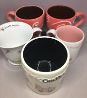 lot of 5 Mary Kay Coffee Mugs Tea Cup Pink Cadillac Beelieve 45th anniversary