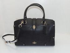 NWT New Coach Handbag Mercer Satchel 30 Purse in Black Grain Leather 37575