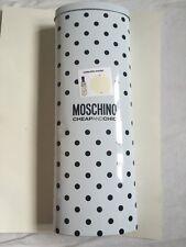 BNIB Moschino Cheap And Chic Cream Compact Automatic Umbrella In Gift Tin!