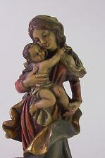 Madonna mit Jesuskind - Holz geschnitzt & gefasst - 25 cm