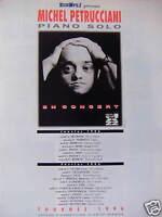 PUBLICITÉ 1996 EUROPE 1 PRÉSENTE MICHEL PETRUCCIANI PIANO SOLO EN CONCERT