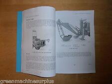 Michigan tractor.75DS.Sherman back acter.Model F9.User handbook.