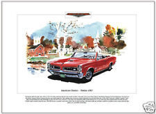 American Classics - PONTIAC GTO - 1966 - Fine Art Print - Muscle Car Convertible