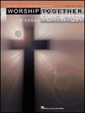 WORSHIP TOGETHER PLATINUM PIANO SHEET MUSIC SONG BOOK