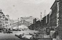 VENEDIG RIALTOBRÜCKE VENEZIA PONTE DI RIALTO 1836 VENICE PONT BRIDGE