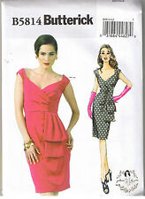 Vintage 50s Retro Draped Wiggle Dress Sarong Skirt Sewing Pattern 6 8 10 12 14