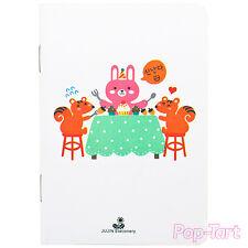 Thin Kawaii White Korean Notebook Small Lined Cute Animal Journal 85mm x 122mm
