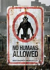 "DISTRICT 9  classic  "" NO HUMANS ALLOWED ""   A4   poster"