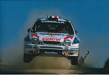 Didier AURIOL SIGNED AUTOGRAPH 12x8 Photo AFTAL COA Toyota Rally of Portugal