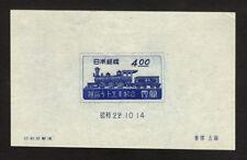 JAPAN  1947  JAPAN RAILWAY 75th Anniversary  BLOCK S/S  Sk# C110  MINT MNH**