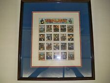 CIVIL WAR POSTAGE STAMPS IN PICTURE FRAME AND DOUBLE MATTED