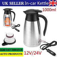 Portable Electric Kettle 12V /24V 1L Car Van Lorry Travel Camping Heating Water