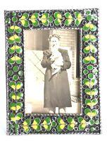Great Vintage EMANUEL Sterling Silver Enamel Photo Russian Easel Picture Frame