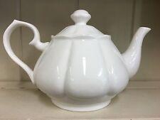 WHITE Cina tè POT 3 TAZZA capacità ZUCCA a forma di White Cina teiera