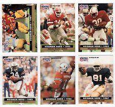 1991 Pro Set 9 Card Heisman Trophy Subset Bo Jackson Walker Allen Rozier Sanders