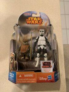 Star Wars Rebels Mission Series MS10 Wicket W Warrick Biker Scout Hasbro 2014