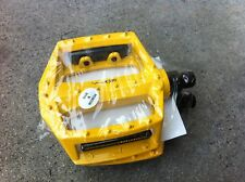 "9/16"" YELLOW Bike Pedals Platform BMX MTB Cruiser Fixie Track Bicycle New"