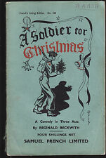 REGINALD BECKWITH - A SOLDIER FOR CHRISTMAS comedy play  1946