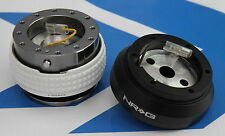 NRG SHORT HUB QUICK RELEASE STEERING WHEEL 2.1 GLOW GM FOR NISSAN 240SX S13 S14